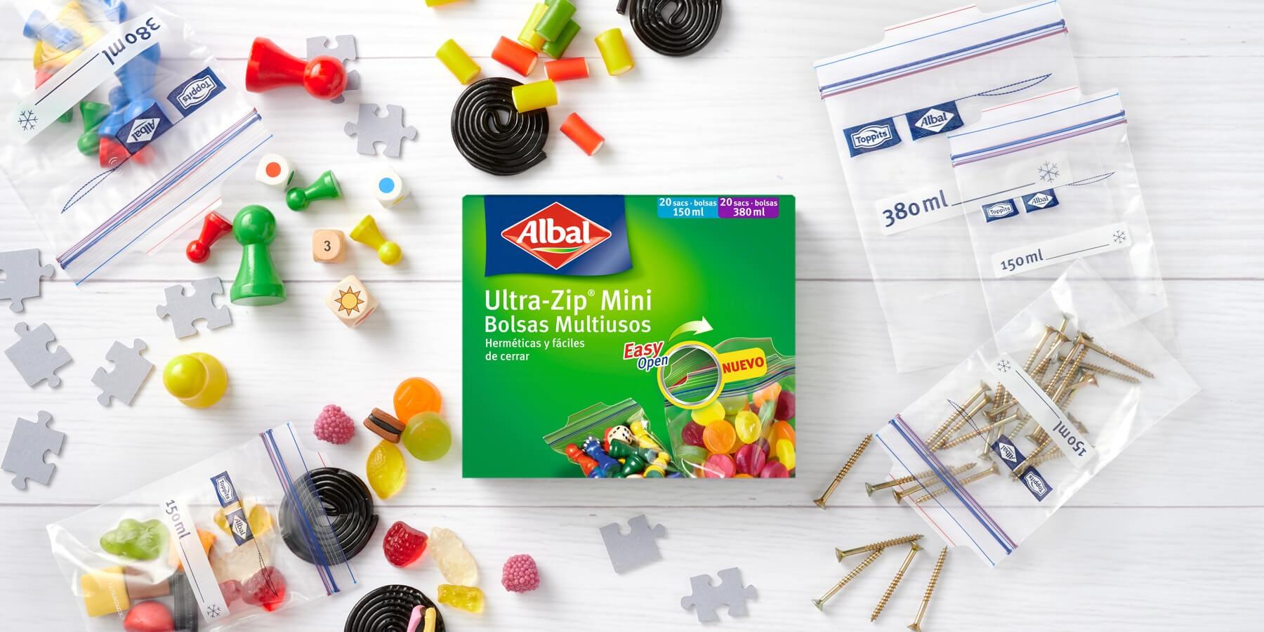 Conserver toutes sortes de petits objets les sacs Multi-usages Ultra-Zip® Mini d'Albal®