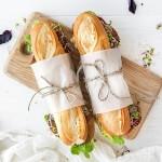 Frisch belegte Baguettes