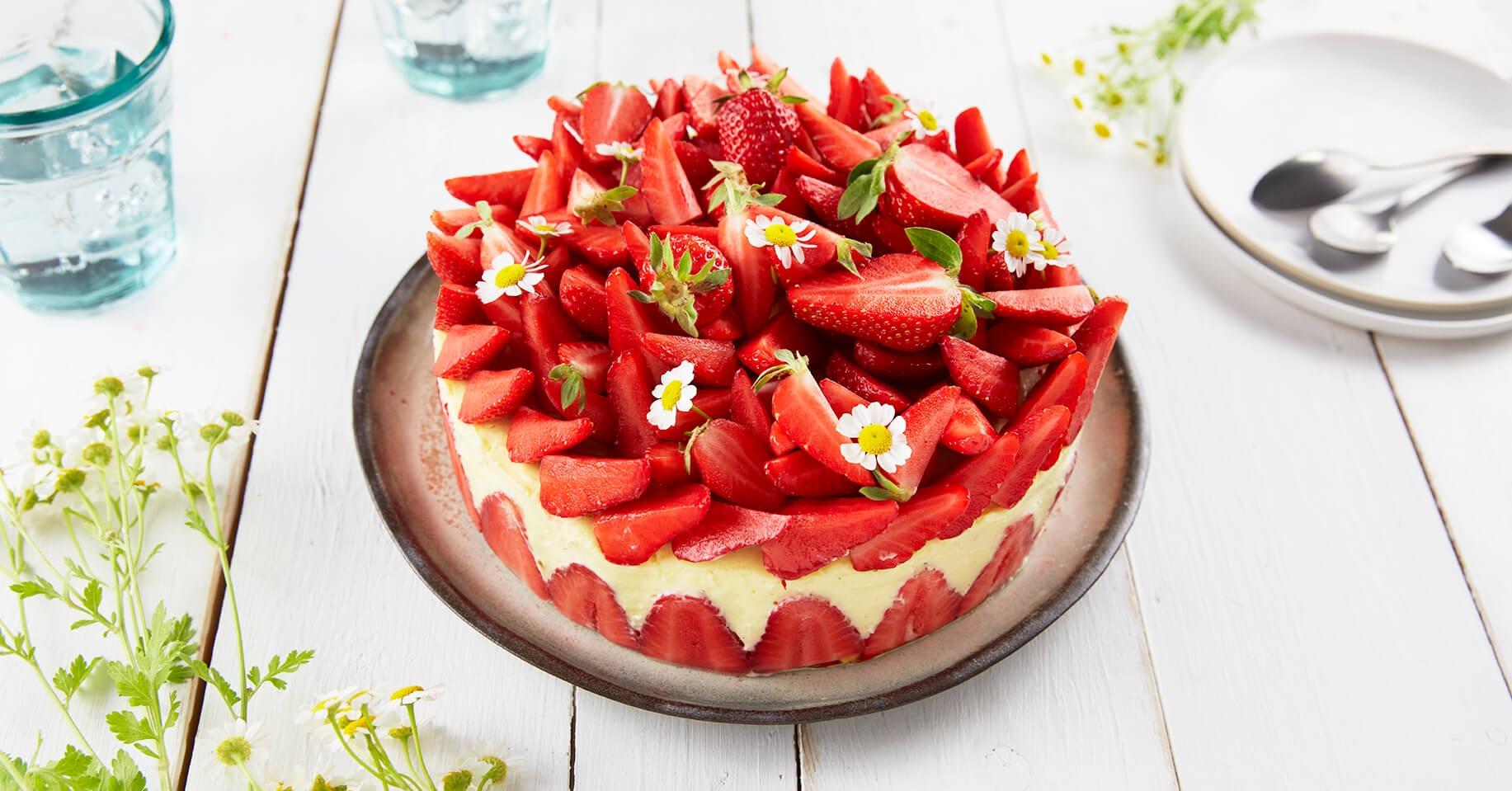 Pâtisserie : le fraisier crème vanille