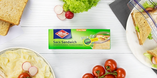 Sacs Sandwiches Ultra-Zip® d'Albal