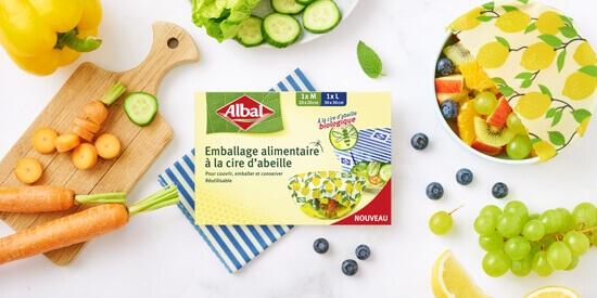 emballages alimentaires à la cire d'abeille Albal®