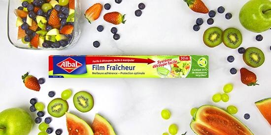 film alimentaire étirable à base matière recyclée