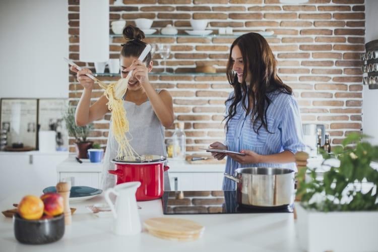 préparation de nouilles savoureuses