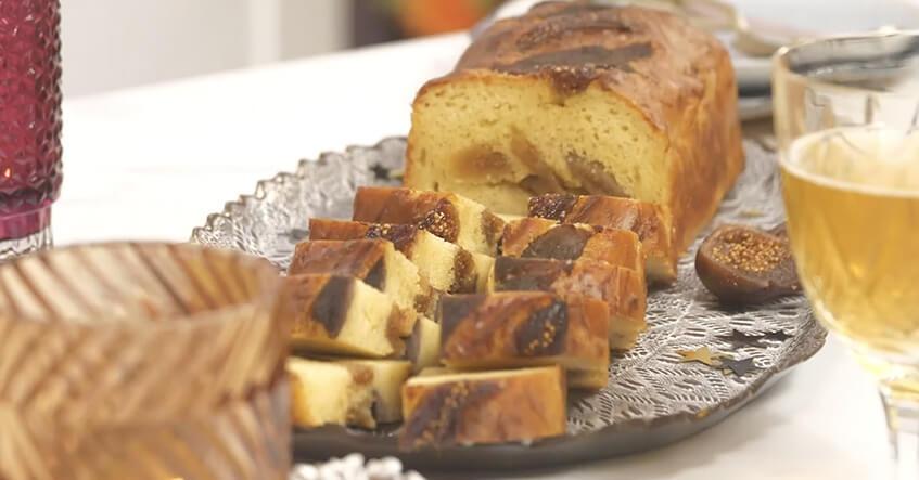 recette facile de cake aux fichues et magret fumé